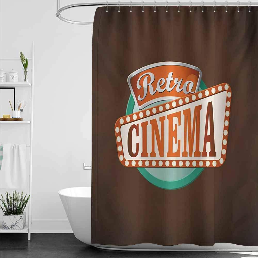 home1love Cortina de Ducha de baño, Estilo Retro, con diseño ...