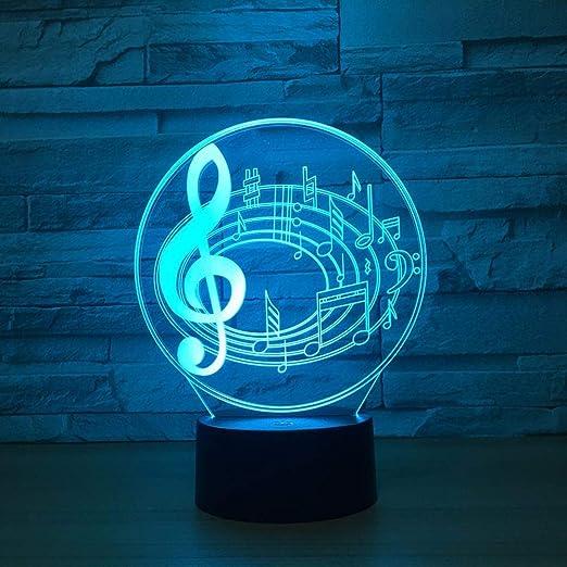 wangZJ Lámpara de ilusión visual 3d / música Luz de noche ...