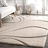 nuLOOM Cream Luxuries Posh Shag Rug, 5' 3'' x 7' 6''