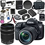 Canon EOS 7D Mark II DSLR Camera with 18-135 USM & W-E1 Wi-Fi Adapter + Battery + Tripod + Slave Flash unit + Shoulder Bag Bundle