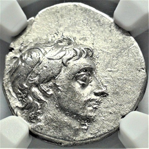 IR 52-42 BC Ancient Kingdom of Cappadocia King Ariobarzanes III Antique Silver Coin Drachm Choice Very Fine NGC