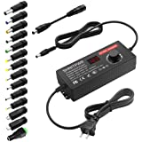 SHNITPWR AC Adapter 120W Universal Power Adapter 4V 5V 6V 9V 12V 15V 18V 19V 20V 24V Adjustable Switching Power Supply 100V~2
