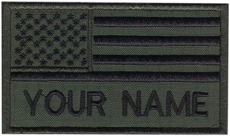 Nombre personalizado Texto verde del ejército americano bandera ...