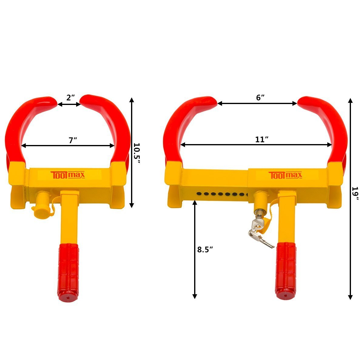 1 Pack Heavy Duty Adjustable Tire Boot Claw for Trailer Auto Car Truck RV Boat Anti-Theft Towing 5.3 Lbs S AFSTAR Safstar Wheel Lock Clamp