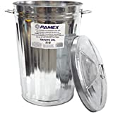 Pamex - Cubo de Basura Galvanizado + Tapa (25 litros)