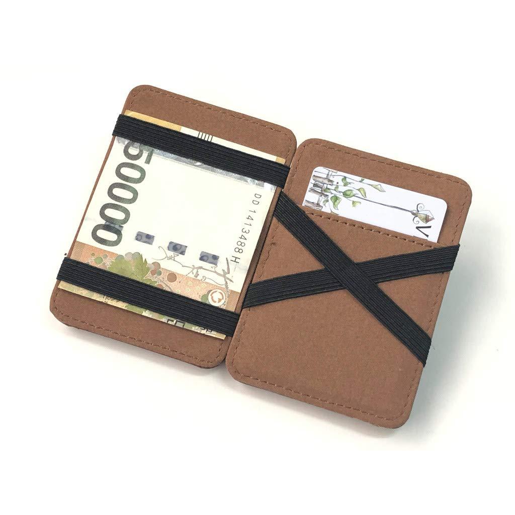 Men Card Case Wallet Bi-fold Slim Gents Wallet with Card Slots Leather Wallets Mens Credit Card Holder RFID Blocking