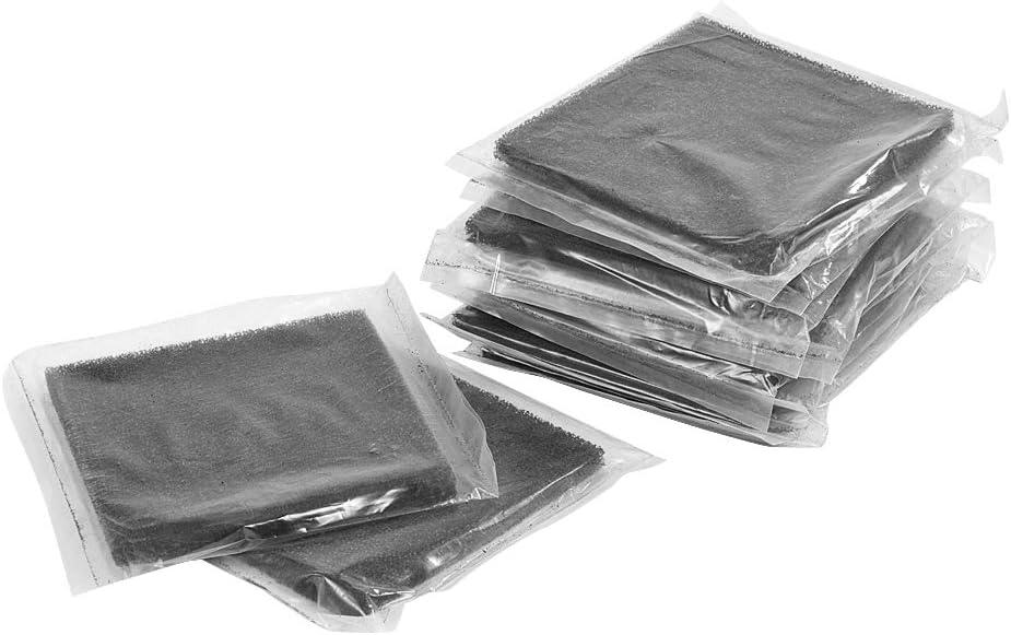 10 Uds filtros de carbón activado natural-13 cm x 13 cm para filtro de soldadura esponja absorbente de humo Extractor de humos