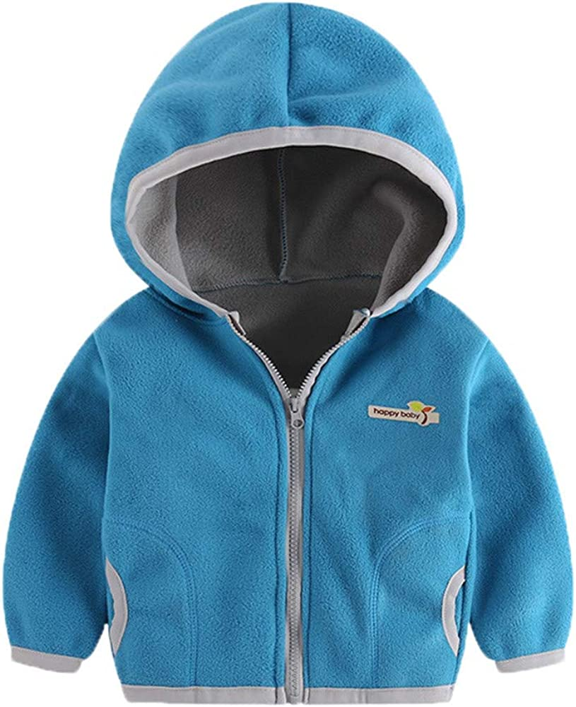 Voberry Baby Boys Girls Stylish Zip Up Plaid Hoodie Pullover Tops Sweatshirt Jacket Coat Voberry®