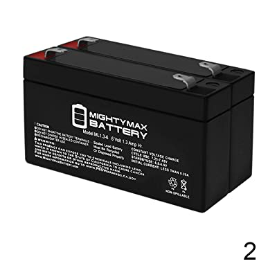 Mighty Max Battery 6V 1.3AH Replacement for Casil CA613 - SLA Battery - 2 Pack Brand Product : Sports & Outdoors