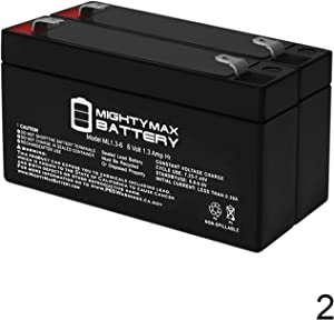 Mighty Max Battery 6V 1.3AH GE 600-1054-95R Simon XT Replacement Battery - 2 Pack Brand Product