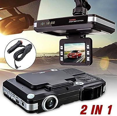 euzeo 2 en 1 multifunción 5 MP coche DVR grabadora + Radar Detector de velocidad Trafic alerta Inglés