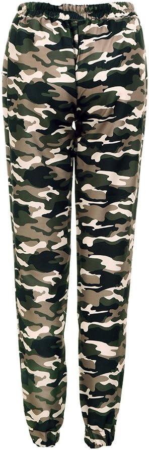 Zeshlla Essential Pantalones Sueltos Para Mujer Cintura Alta Diseno De Camuflaje Militar Color Verde Amazon Com Mx Ropa Zapatos Y Accesorios