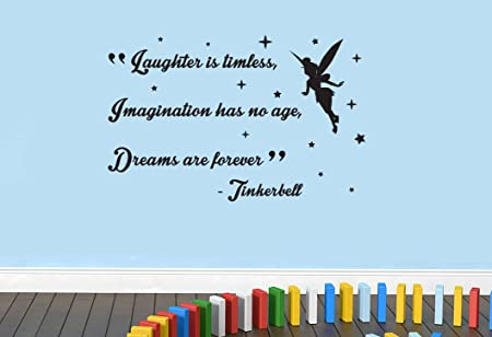 Peter Pan Laughter Imagination Dreams Tinkerbell Disney Quote