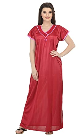 Image Unavailable. Image not available for. Colour  Miss Pixy Women s  Floral Red Nighty Satin Casual Sleepwear ed806205c