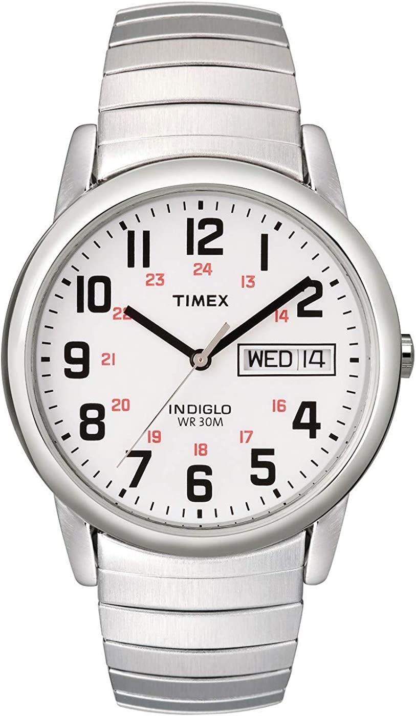 Timex Men s Easy Reader Day-Date Expansion Band Watch
