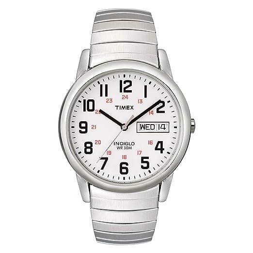 5d76580d21df Timex Reloj Analógico para Hombre de Cuarzo con Correa en Acero Inoxidable  T20461PF  Timex  Amazon.es  Relojes