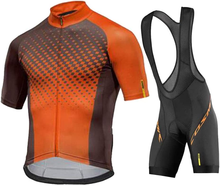 NHGFP QPM Ciclismo Jersey MTB Mountain Bike Abbigliamento Uomo Breve Set Abbigliamento Ciclismo Bicicletta Copre Ciclismo Uomo Color : Short Sleeve Set 15, Size : XL
