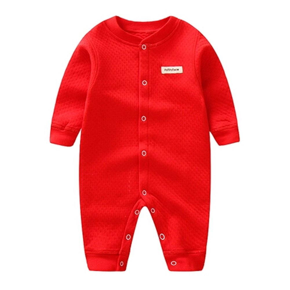 Breath Neugeborenes Baby-Herbst Jumpsuits Strampler Baby-Overall, Rot KE-CLO1046184-JELLY04640