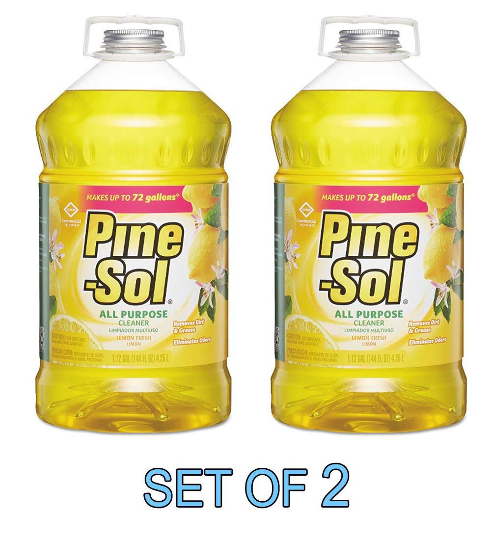商用グレード 松の土 多用途 消毒クリーナー レモン 1ガロン [2個セット] B07HHHD1W7