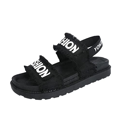 UFACE Womens Cloth Platform Bequeme Sandalen Damenschuhe Sommer Gladiator Frauen Flache Mode Schuhe Casual Gelegenheiten