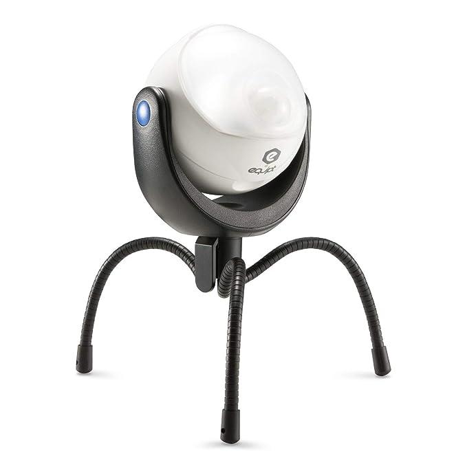 Equipt EQBPL090 Weather Resistant Portable Multi-Functional 360 Degree LED Light w/ Motion Sensor for Outdoor Lighting