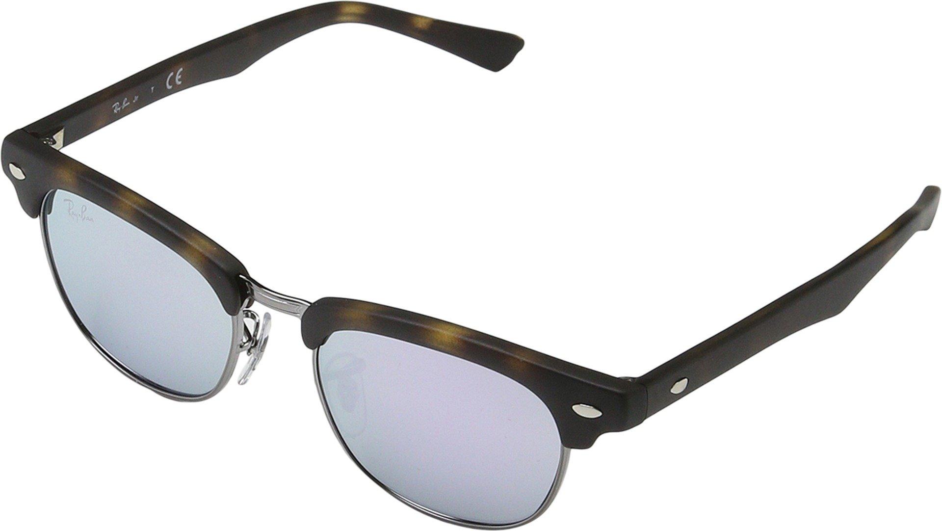 Ray-Ban Jr. Kids Clubmaster Kids Sunglasses (RJ9050) Tortoise Matte/Purple Metal - Non-Polarized - 45mm