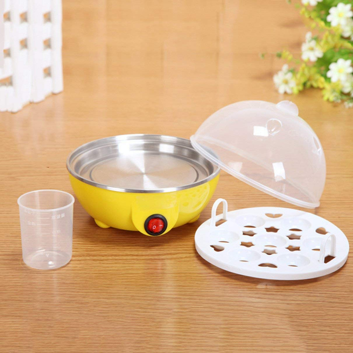 Multi-function Electric Egg Cooker 7 Eggs Capacity Auto-off Fast Egg Boiler Steamer Cooking Tools Kitchen Tools by peppydazi