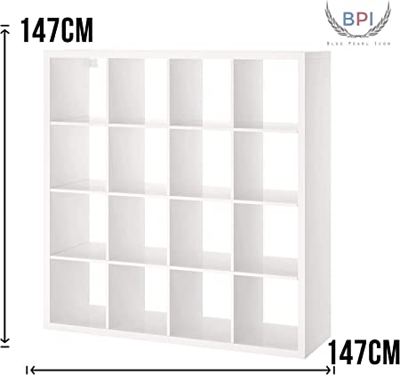 Bpil Kallax Etagere Cube Blanc Laque 147 X 147 Cm Amazon Fr Cuisine Maison