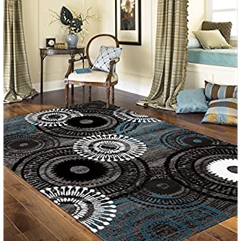Amazon Com Premium Large Rugs 8x11 Modern Rugs For Brown