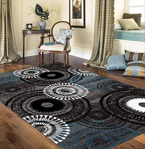 Rugshop Contemporary Circles Area Rug, 7′ 10″ x