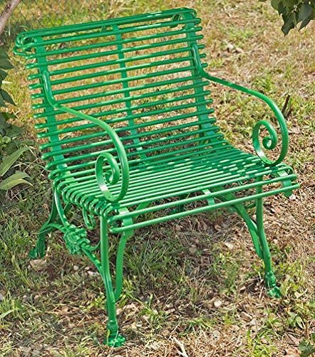 Casa-Padrino Silla de jardín de Hierro Forjado 65 cm x 60 cm - Muebles de jardín, Color:Red: Amazon.es: Hogar