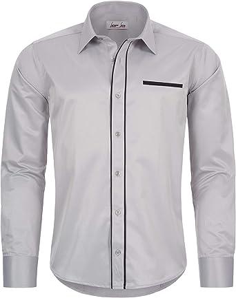 Rock Creek Camisa Business, boda, Tiempo Libre, ajustada para Hombre Oxford LL-202 S – XXL gris claro XXL: Amazon.es: Ropa y accesorios
