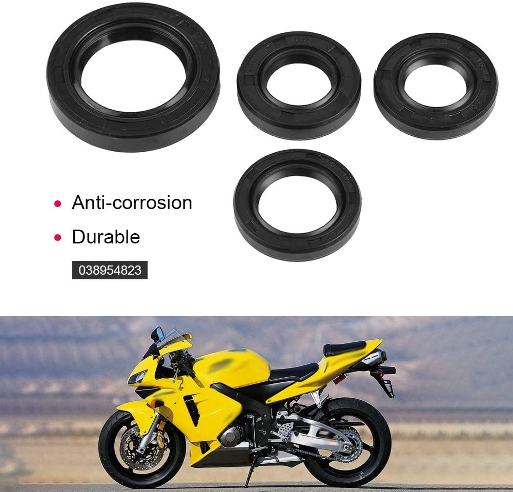 WOOSTAR Engine Crankshaft Oil Seal Assembly Replacement for GY6 49cc 50cc 139QMB Scooter Moped ATV 4 Wheeler Quad