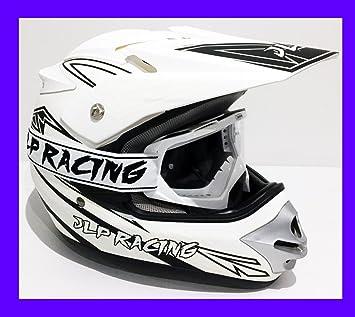 JLP Racing Casco integral con gafas para motocross, quad, enduro, BMX o bici