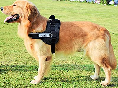 Dog Harness,RIOGOO K8 Upgraded Version Reflective No Pull Dog Vest Harness with Soft Padded Adjustable Chest Strap