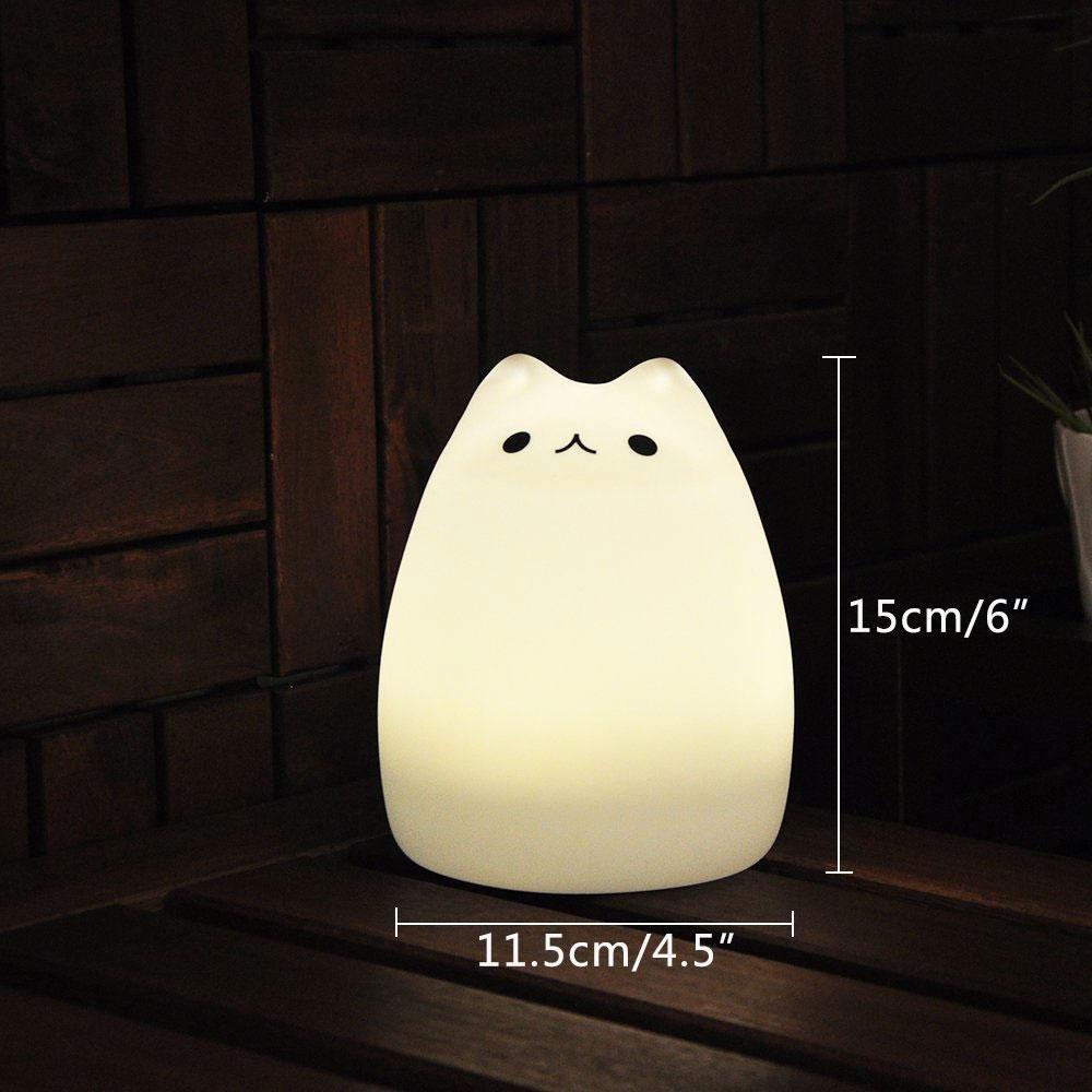 Amazon Umiwe Cute Kitty LED Children Night Light Kids