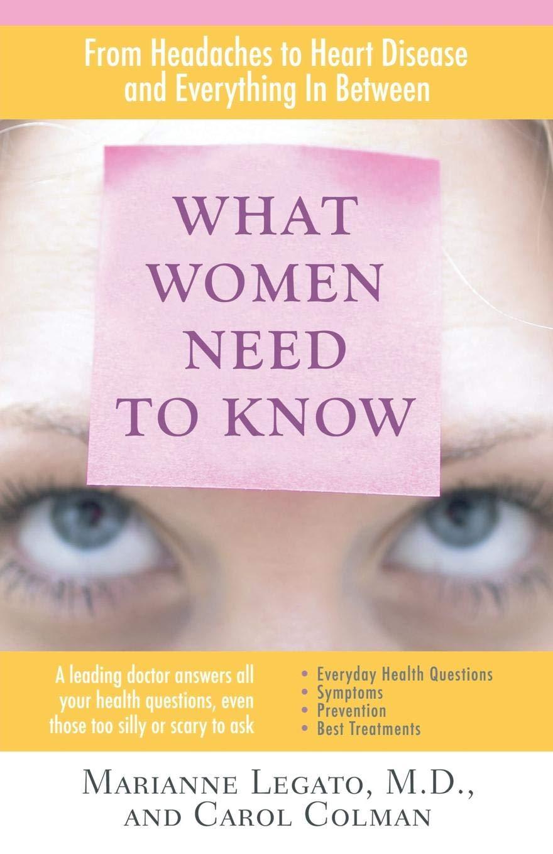 What Women Need to Know: Amazon.es: Marianne J. Legato: Libros en idiomas extranjeros