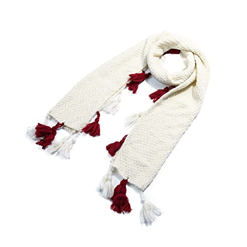 Nueva Moda De Punto Ligero Llanura Bufanda Con Borlas Para Mujeres Bufanda Chal Abrigo,White-OneSize