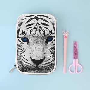 Jacksome Tiger - Estuche organizador de lápices y bolígrafos de gel, gran capacidad, portátil: Amazon.es: Oficina y papelería