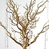 "BalsaCircle 30"" Manzanita Tree with Garlands for Wedding Centerpieces - Gold"