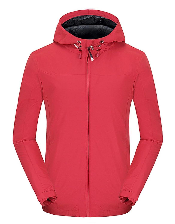 Spmor Women's Waterproof Jacket Lightweight Rain Coat Windproof Skin Hooded Jacket