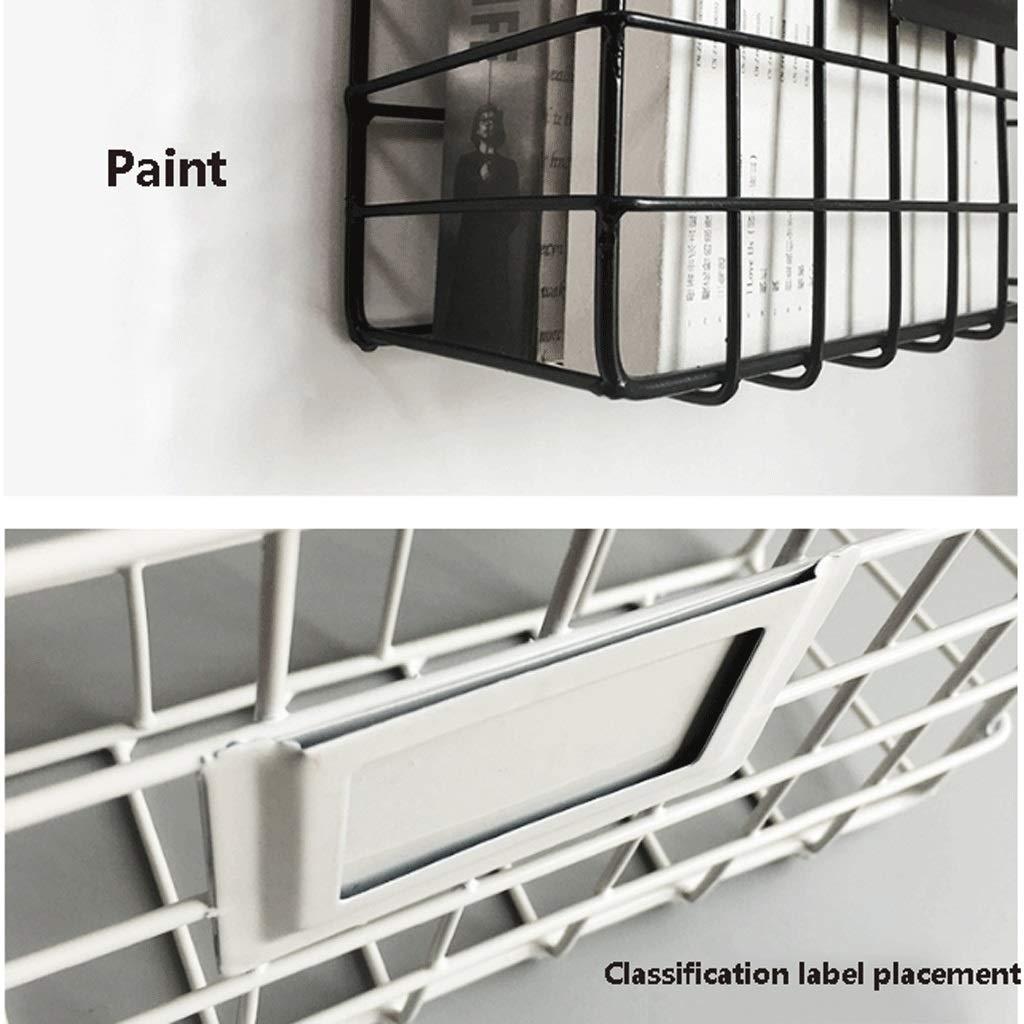 Griglia in ferro battuto Portariviste da cucina Cremagliera per cucina da parete a parete aspirante Appendiabiti da bagno A+ nero, bianco colore : Nero