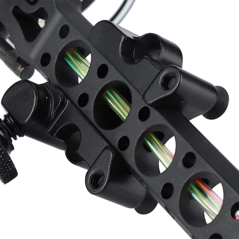 Archery Bow Sight,Archery 5 Pins 019 Fiber Optics Bow Sight with LED Sight,Micro Adjust Sight Detachable Bracket Light