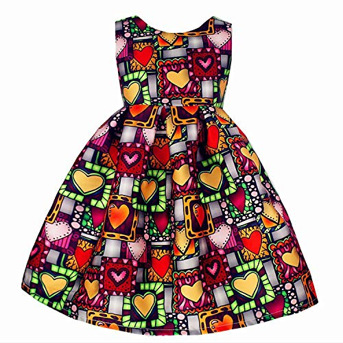European Style Summer Girl Dress Sleeveless Floral Child Ball Gown Kids Dresses for Girls Wedding Dress 2-10Y,Grown Love,5