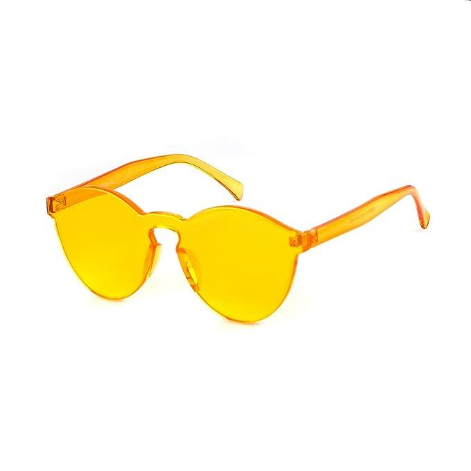 ADEWU Gafas de sol sin montura de una pieza Gafas de sol de ...