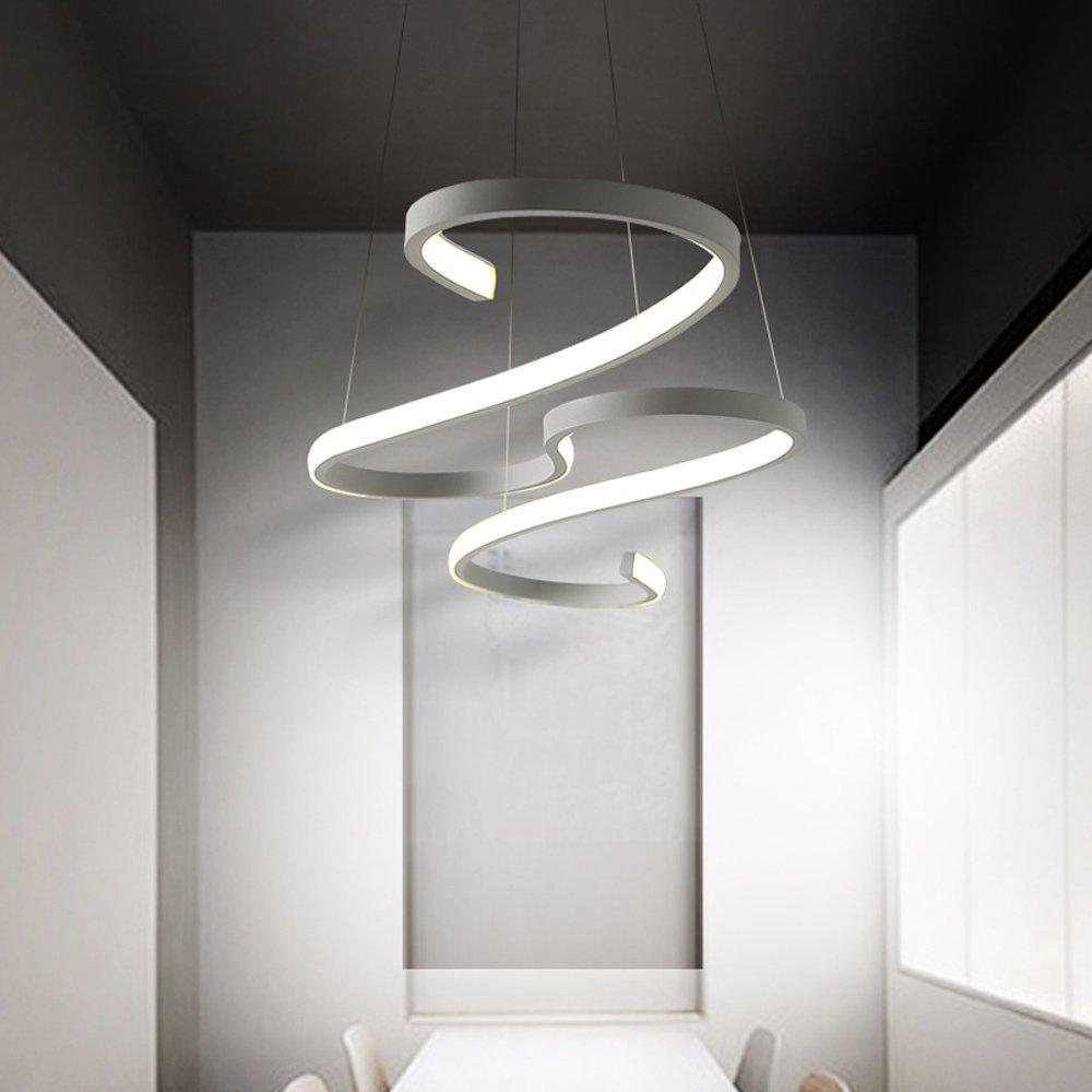 WSHceilinglamp Leuchter Deckenleuchte spiralförmig – Moderne Designer-Lampe mit LED-Lichtleisten – Aluminum-Leuchte für die Wohnzimmer-kronleuchter in Einem gemütlichen