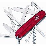 Victorinox Taschenwerkzeug Offiziersm Huntsman Rot Transparent, 1.3713.T