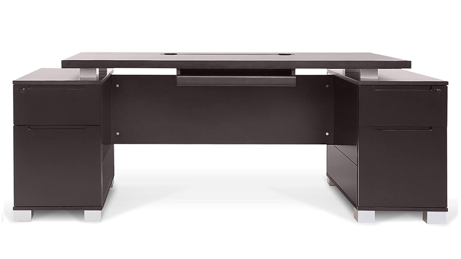 desk office ideas modern. Amazon.com: Ford Executive Modern Desk With Filing Cabinets - Dark Wood Finish: Kitchen \u0026 Dining Office Ideas