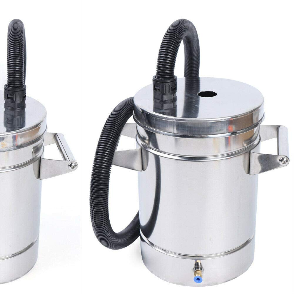 WINUS 8L 304 Stainless Steel Small Fluidized Powder Hopper for The Powder Coating Machine US Stock