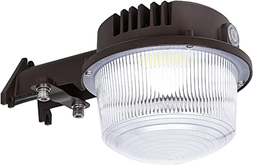 LED Security Area Light 40 Watts – Barn Light Dusk to Dawn with Photocell – Ultra Bright Yard Light 5200 Lumens, 5000K, 400W Incandescent or 150W HID Light Equal, ETL Listed